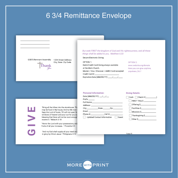 Church Bible Verse Remittance Envelope