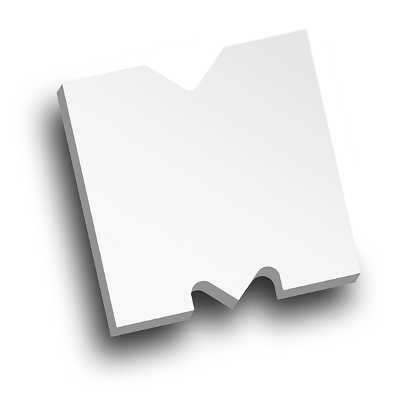 Medium Letter M die virtual