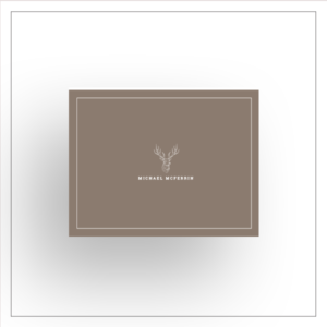 morewithprint a size notecards Fold Over style for men thumbnail Mock up deer buck