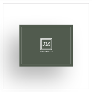 morewithprint a size notecards Fold Over style for men thumbnail Mock up square double mono