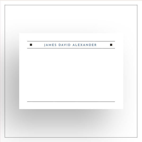morewithprint a size notecards flat or foldover MOCKUP thumbnail for him Double Thin Lines