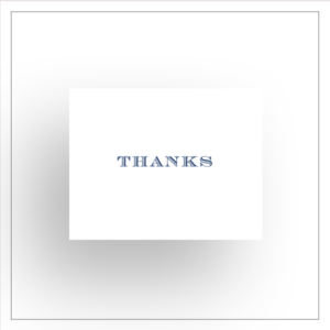 morewithprint a size notecards Thank You Fold Over style for men thumbnail Mock up