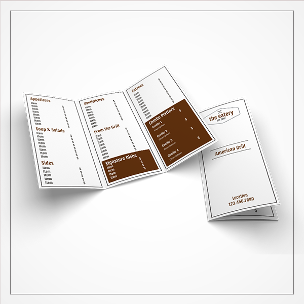 morewithprint menu small trifold