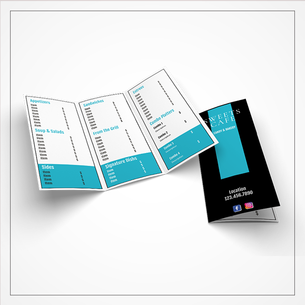morewithprint mock up menu small trifold