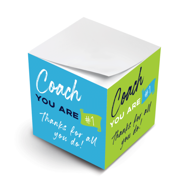 MWP Best Coach Ever Sticky Note Cube Virtual