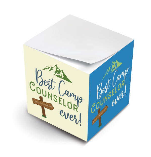 MWP Best Counselor Ever Sticky Note Cube Virtual