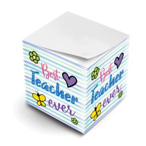 MWP Best Teacher Ever Sticky Note Cube Virtual