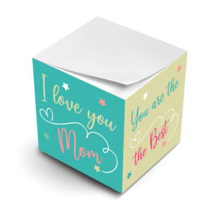 MWP Love You Mom Ever Sticky Note Cube Virtual