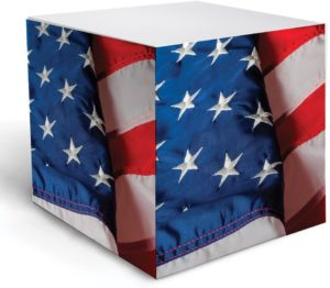 american flag note cube