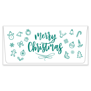 merry christmas currency envelopes