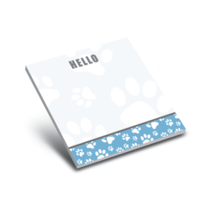 blue paws 3 x 3 sticky notepads