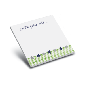 green star and stripes 3 x 3 sticky notepads