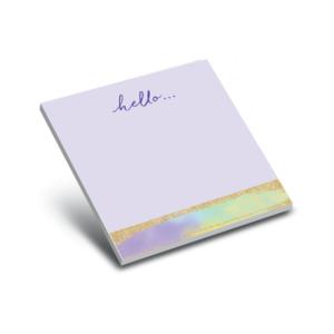 glitter violet 3 x 3 sticky notepad