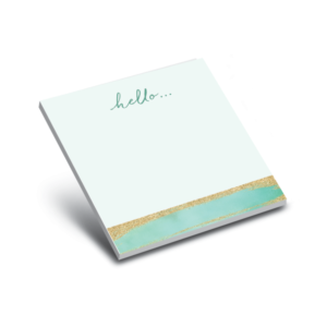 glitter mint 3 x 3 sticky notepads