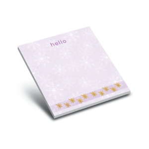 MWP x Pad Holiday Winter Gold and Purple Snowflakes