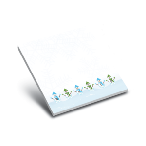 snowmen holiday notepads