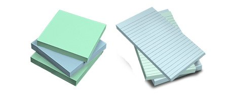 Stocked Sticky Notepads