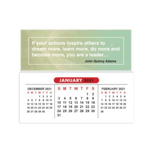 2021 mini sticky calendar inspirational quote olive