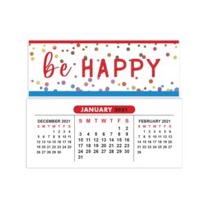 2021 mini sticky calendar be happy