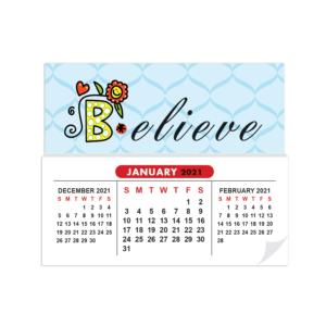 Sticky Calendar Mock Up Believe