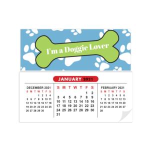 Sticky Calendar Mock Up Doggie Lover