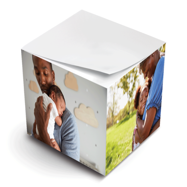 photo paper sticky note cube father new baby grandmother