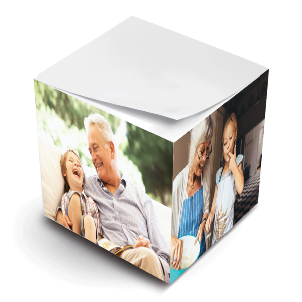 photo paper sticky note cube grandparents