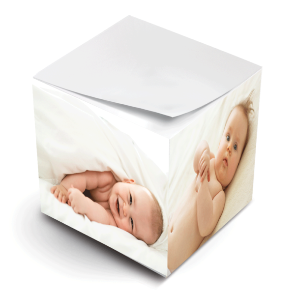 photo paper sticky note cube new baby