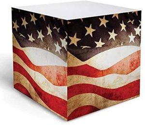 vintage american flag note cube