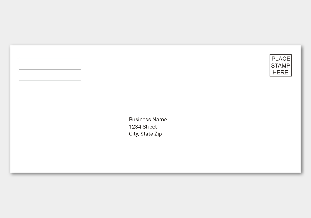 business reply envelope cat