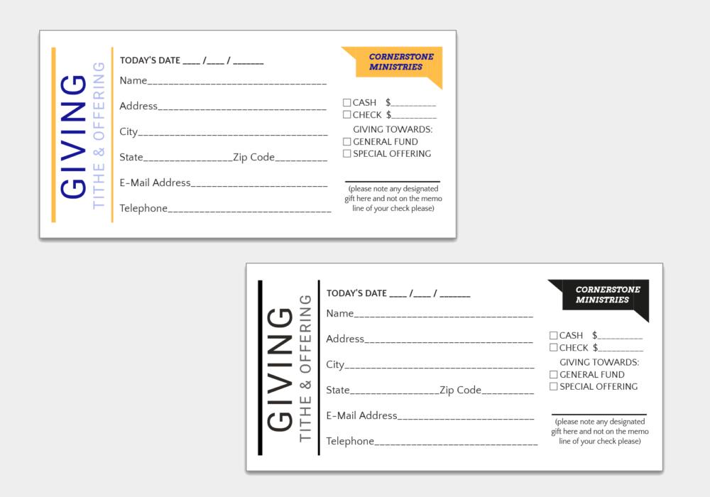 donation tithing envelope cat