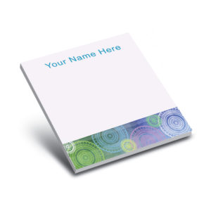 gears turning personalized sticky notepads