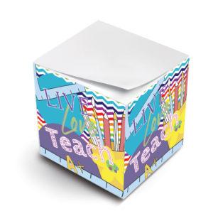 live laugh teach sticky note cubes