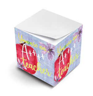 You Are An A+ Teacher Sticky Note Cubes