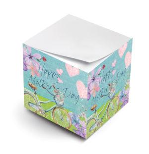 Happy Mothers Day Bike Sticky Note Cube