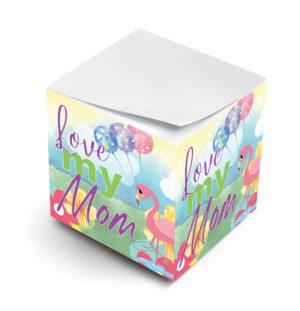 love my mom sticky note cubes