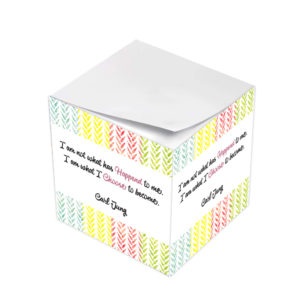 Carl Jung I Am What I Choose To Become Sticky Note Cubes
