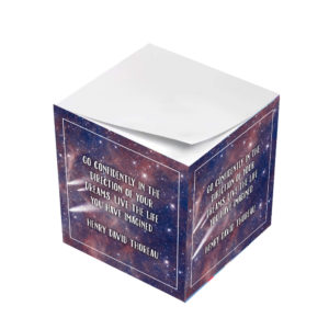 Henry David Thoreau Go In The Direction of Your Dreams Sticky Note Cubes