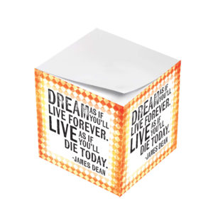 James Dean Dream As If You'll Live Forever Sticky Note Cubes