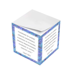Lao Tzu Kindness In Words Creates Confidence Sticky Note Cubes