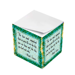 Mark Twait Most Important Days of Life Sticky Note Cubes