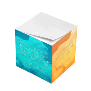 Various Motivational Leader Sticky Note Cubes