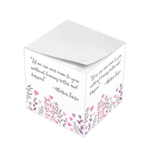 Mother Teresa Let No One Leave Without Feeling Better Sticky Note Cubes