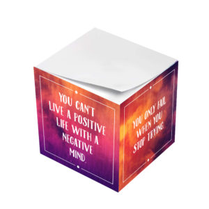 Positive Thoughts Motivational Sticky Note Cubes