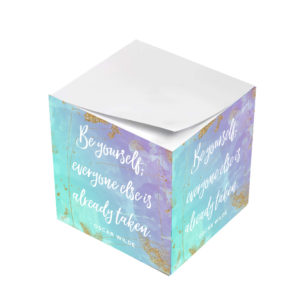 Oscar Wilde Be Yourself Everyone Else Is Taken Sticky Note Cubes
