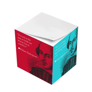 William Shakespeare Quote Variety Sticky Note Cubes