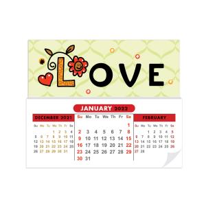 Sticky Calendar Mock Up LOVE